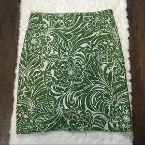Ann Taylor Loft Green Pencil Skirt